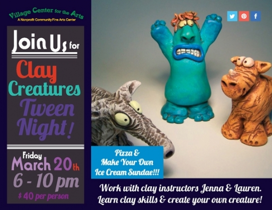 clay creatures tween night new milford events