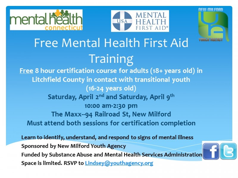 Mental Health First Aid - New Milford Events
