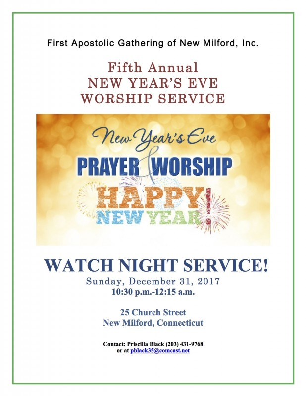 New Year\'s Eve Service - New Milford Events